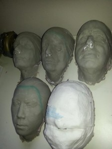 Near-done zombie cast heads