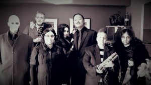 Oct 25, 2014 - Bony Fiddle Addams Family, full crew, pre-parade