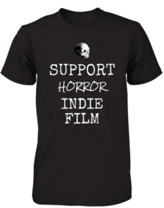 Bony Fiddle T-shirt - fundraising, shop support horror - black