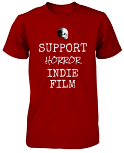 Bony Fiddle T-shirt - fundraising, shop support horror - red