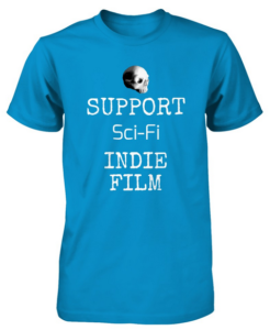 Bony Fiddle T-shirt - fundraising, shop support sci-fi - blue