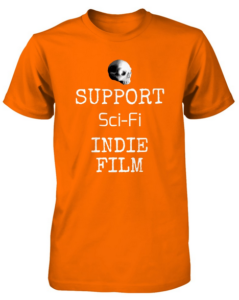 Bony Fiddle T-shirt - fundraising, shop support sci-fi - orange