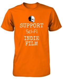 Bony Fiddle T-shirt - fundraising, shop support sci-fi - orange